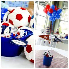decoracion de mesas para cumpleaños de futbol - Buscar con Google