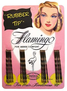 vintage bobby pin package - OK everyone has used there for that Prom up-do  or wedding hair