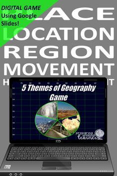 Your middle school social studies students will learn or review the 5 Themes of Geography with this fun digital game that uses Google Slides.  Your students will match the themes with their definitions and examples.  Perfect for in class or at home enrichment or review! Basic Geography, Social Studies Games, Digital Review, Map Skills, Enrichment Activities, Middle School Teachers, Review Games, Definitions, Distance