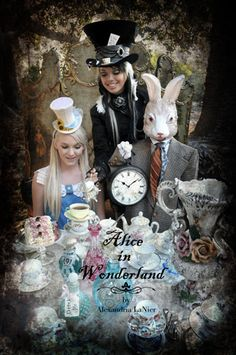 The Mad Hatter's tea party. Alice in Wonderland. #marchhare #alice