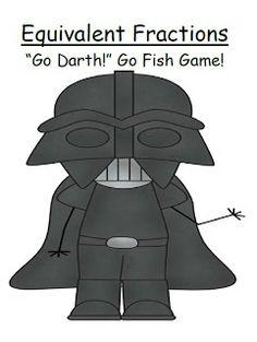 #FREE Equivalent Fractions Common Core ~ Star Wars Go Fish Game #TPT #Teacher http://www.teacherspayteachers.com/Store/Fern-Smiths-Classroom-Ideas