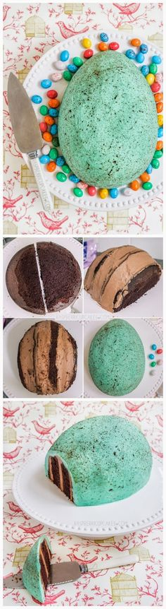 Giant Chocolate Speckled Egg Cake