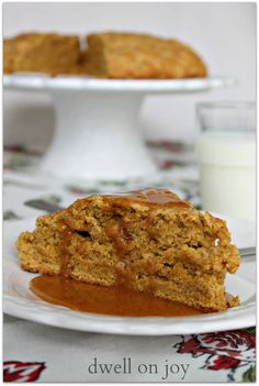 Pumpkin Scones with Pumpkin Glaze on MyRecipeMagic.com