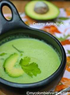The recipe I am sharing with you today is a delicious Colombian soup called Crema de Aguacate (Colombian Creamy Avocado Soup). A mix of avocados, cream, cumin My Colombian Recipes, Colombian Food, Colombian Dishes, Cuban Recipes, Cookbook Recipes, Soup Recipes, Cooking Recipes, Keto Recipes, Avocado Soup