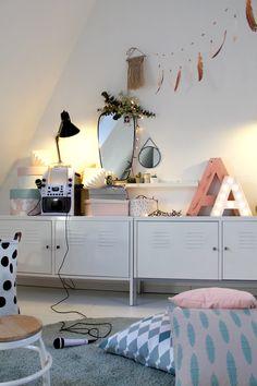 Emma's kleine Lightshow #kidsroom#kinderzimmer#girls#ikea#eukalyptus