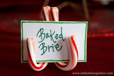 How To Make Candy Cane Place Card Holders