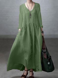 Chiffon Maxi Dress, Mesh Dress, Maxi Dress With Sleeves, Daily Fashion, Boho Fashion, Baggy Dresses, Dress Clothes For Women, Fashion Colours, Daily Style