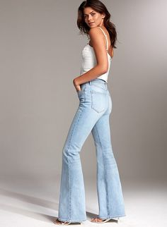 Check out the latest women's jeans from Aritzia and its exclusive brands. Shop Levi's, Denim Forum, Citizens of Humanity, AGOLDE, Frame and more. Morgan Dress, Buy Jeans, High Waisted Flares, Denim Shop, Private Jet, Slim Legs, Bell Bottom Jeans, Organic Cotton
