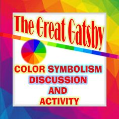 Microsoft 07This activity is eight pages of discussion and questions about color symbolism in The Great Gatsby.  I've provided discussion of color symbolism for eleven colors and light and dark imagery.  Students are provided with excerpts and quotes from the text that illustrate the effect of the imagery.