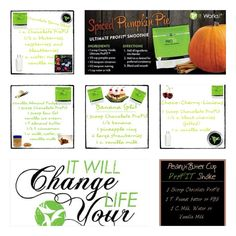 Great meal replacement options.  Order ProFit today @ www.mysupplementsandwraps.com try one of these shakes today.