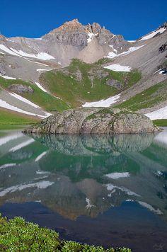 Island Lake and V4 - Ice Lake Basin, Colorado  http://aaron-spong.artistwebsites.com/featured/island-lake-reflection-aaron-spong.html