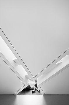 The Crystal by Daniel Libeskind at Royal Ontario Museum (ROM), interior, Toronto, ON © Sam Javanrouh