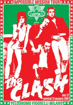 The Clash Concert Poster. The only band that matters! #music #concert #design