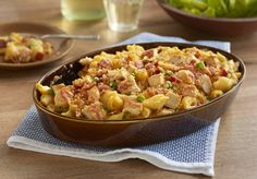 Foster Farms Recipe: Cheddar Chicken Mac n Cheese With Peas & Bacon