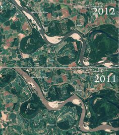 NASA Photos Show the Drought's Alarming Effect on the Mississippi River