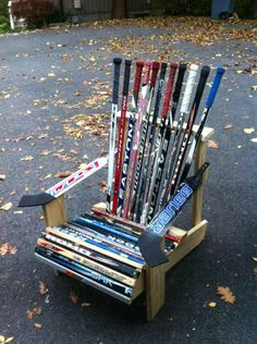 My Hockey Stick Chair for your viewing pleasure