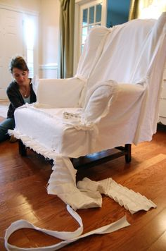 How to make slipcovers... #furniture #diy