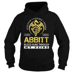 ABBITT Blood Runs Through My Veins - Last Name, Surname TShirts