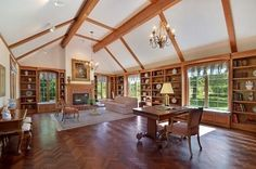 Gorgeous woodwork and ceiling beams | River Hills WI