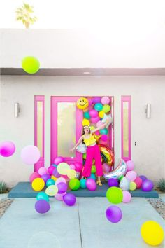 Balloons pictured: Frankly I Love Unicorns Party Pack House Of Balloons, Happy Balloons, Rainbow Balloons, Colourful Balloons, Mylar Balloons, Balloon Pictures, Balloon Ideas, Grown Up Parties, Unicorn Party