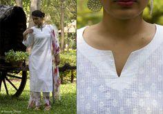 Kurtis for women - Kurta Pure White By Suvasa - PC - 1206 - Main