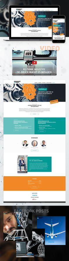 Konzeption, Texting, Design, Umsetzung und SEA für die Microsite zum ersten 3D-Druck-Camp Österreichs von Festo und dessen Bewerbung. Festo, Website Designs, Filters, Design Websites, Website Layout, Web Design, Design Web