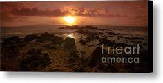 Maui Sunset Canvas Print / Canvas Art By Edward Fielding