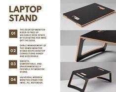 Laptop Stand Lap desk Macbook Stand Laptop Holder Laptop desk Wood Laptop Stand - Ideas of Laptop Stands - Laptop Stand Lap desk Macbook Stand Laptop Holder Laptop Wooden Laptop Stand, Laptop Tray, Oak Veneer Plywood, Desk Riser, Portable Desk, Desk Tray, Cool Presents, Monitor Stand, Lap Desk