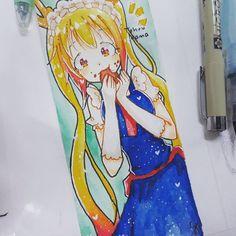 finally drew something after so long lmao \(T∇T)/ . its a bookmark [#illust #illustration #art #drawing #anime #animedrawing #animeart #animegirl #tohru #maid #dragon #manga #mangaart #bookmark #watercolour #copic #micronpen #kobayashisanchinomaiddragon] http://www.butimag.com/bookmark/post/1481304940324589444_3215023479/?code=BSOpv60FA-E