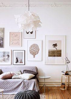gallery wall with simple art. / sfgirlbybay