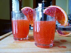 Blood Orange Buck's Fizz (mimosa)