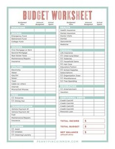 expense printable forms worksheets charts pinterest