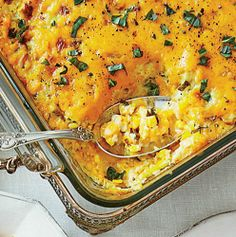 24 Thanksgiving Food Ideas With Recipes = corn-pudding