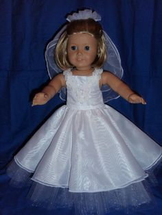 American Girl or 18 inch doll Wedding or by Karensdollkreations, $18.00