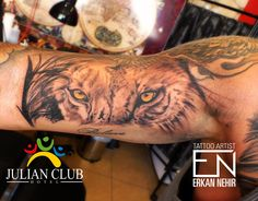 Lion tattoo by Erkan Nehir #lion #tattoo #tattoos #realism #lions #eye #eyes #erkan #nehir