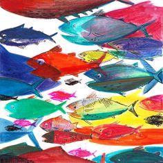 Tuna fish,  illustration by Ania Simeone