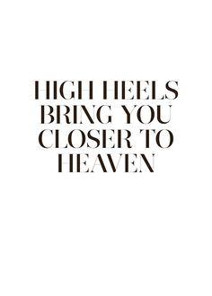 High heels, poster