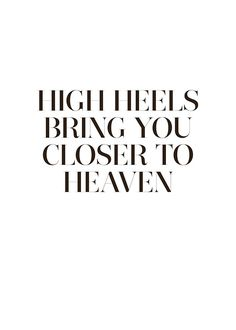 Stylish typography print, poster with the text High heels   Prints online