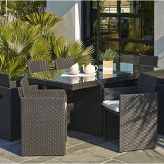 Salon de jardin Morea Gris/Ecru - 4 places | Idées pour la maison ...