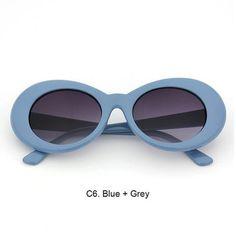 9ccf9a518a Blue with Black Lenses Nirvana s Kurt Cobain oval sunglasses reproduction  Womens Glasses
