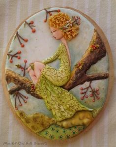 La ninfa del bosque (glasa con volumen pintada a mano)