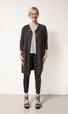 dark grey cotton coat