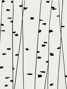 simple birch illustration - Sök på Google