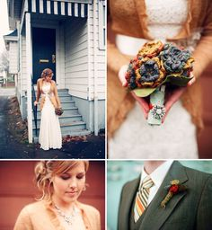 Her wedding bouquet is so cute. If I was having a late fall/winter wedding, I would be all over crocheting my own bouquet.