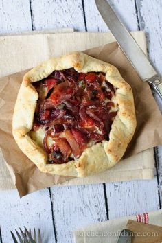 Savory Onion Galette :: A little bit of sweet & a whole lot of savory, this galette is meant to be shared