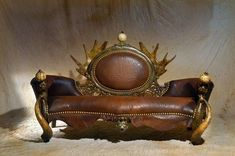 African Chairs   STRANGE AFRICAN MADE FURNITURE - SKINS, TUSKS & HORNS! - LEATHER CHAIR