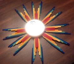 Handcrafted Wooden Rainbow Sunburst Mirror by izzystutus on Etsy, $48.00