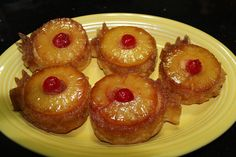"""My """"not so"""" Simple Life: Pineapple upside down cupcakes"""