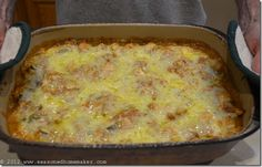 King Ranch Chicken - The Seasoned Homemaker with gluten free variations King Ranch Chicken, Ranch Chicken Recipes, Cream Of Chicken Soup, Mexican Dishes, Mexican Food Recipes, Ethnic Recipes, Comida Israeli, Food Dishes, Main Dishes