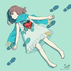 Sad Anime Girl, Anime Art Girl, Dark Art Illustrations, Illustration Art, Image Triste, Sun Projects, Character Art, Character Design, Anime Triste